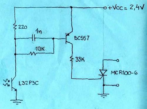slave flash trigger circuit - schematic