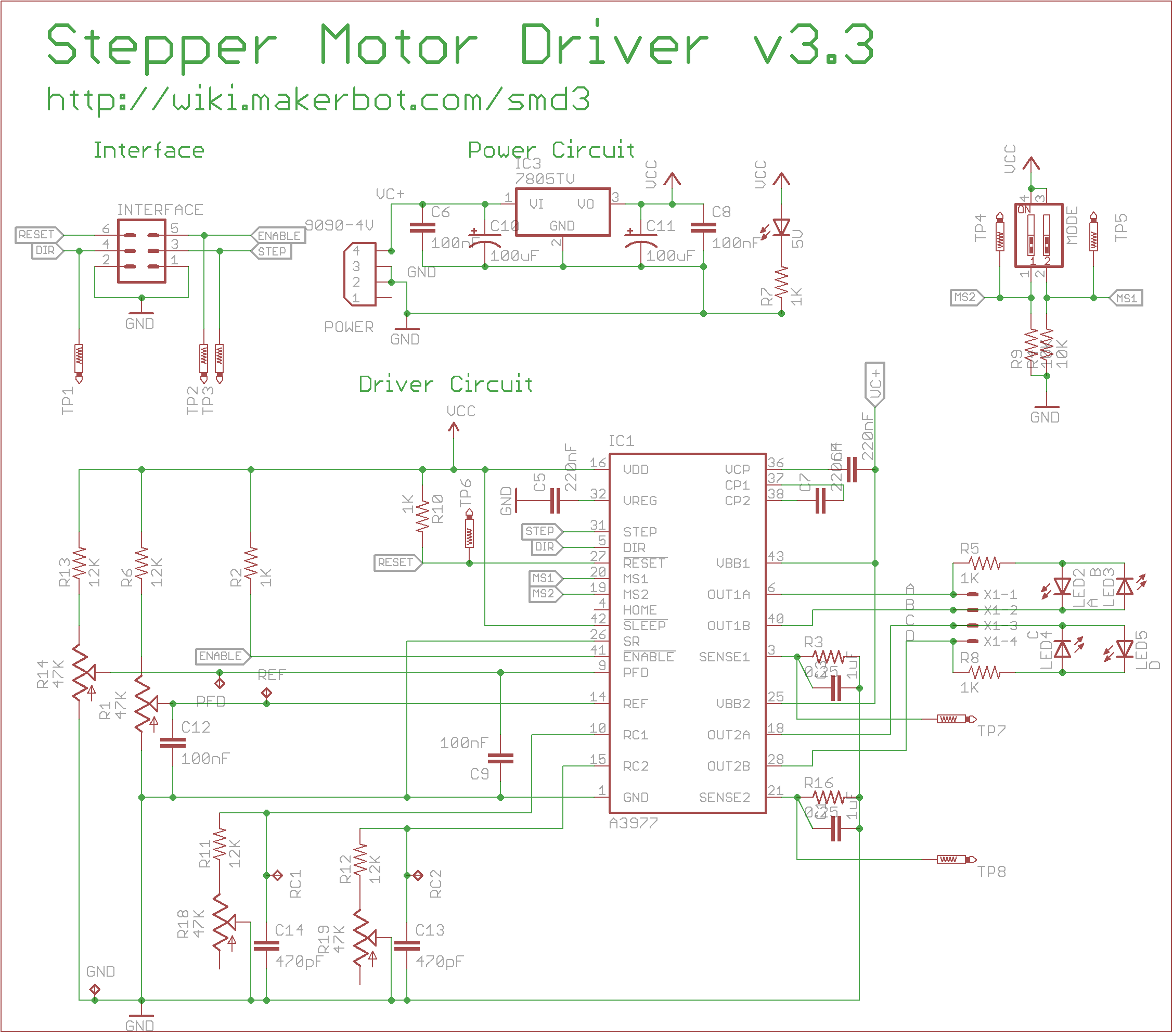 Circuits stepper motor driver 3 3 schematic l43917 for Stepper motor with driver