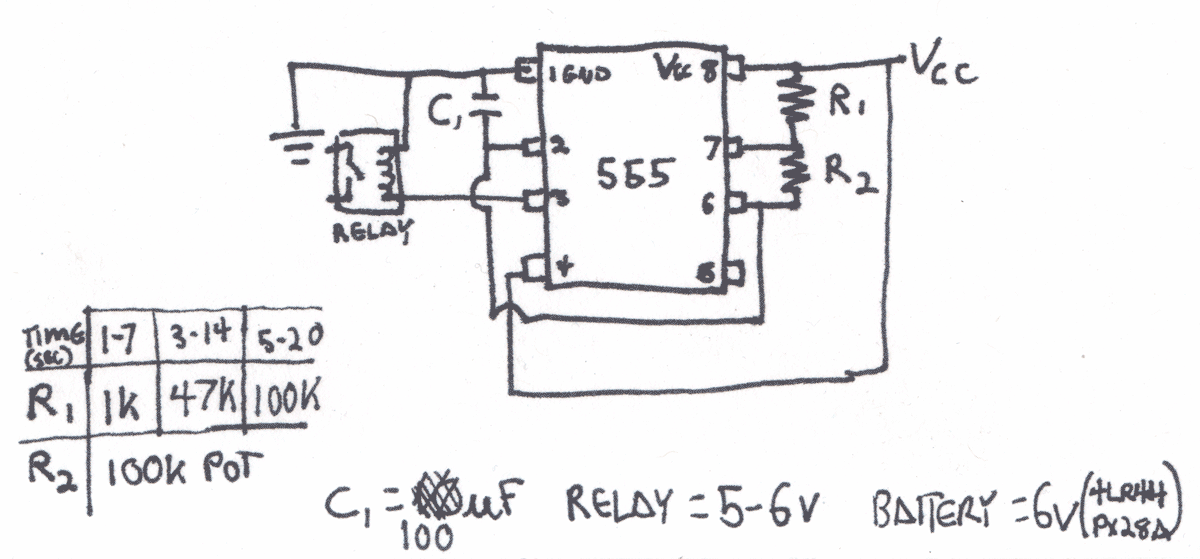 555 timer circuit diagram - schematic
