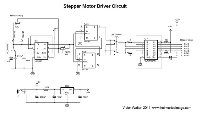 DIY video dolly stepper motor driver - schematic