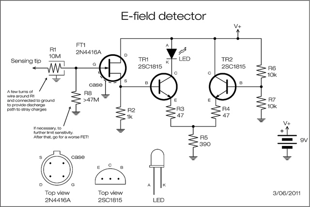 Figure 2 The Complete Circuits Of Simple Metal Detector