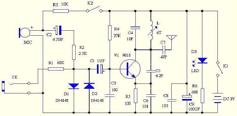 FM radio receiver - schematic