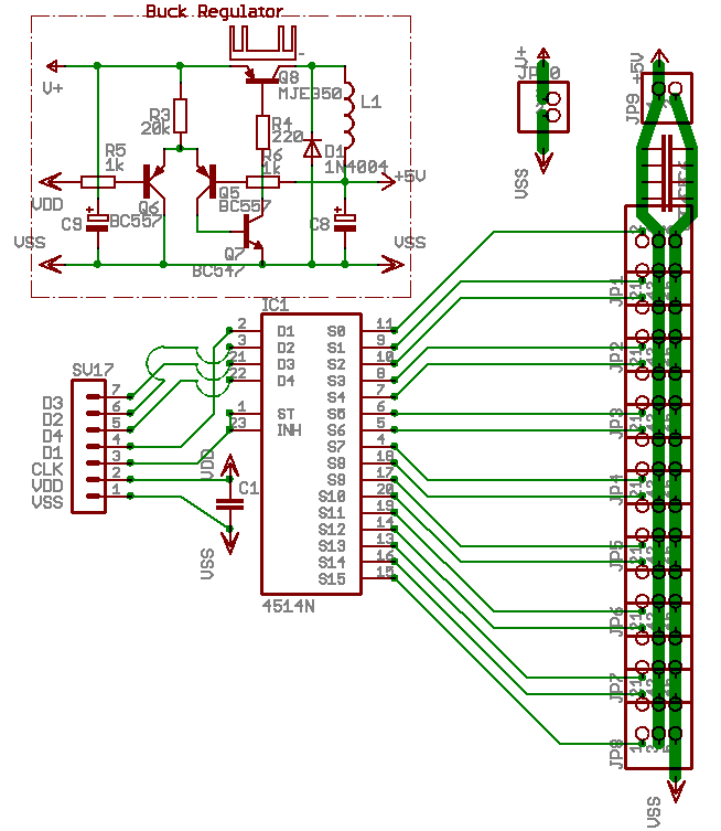 HandyBoard 16 servo addon and software - schematic