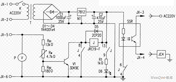 FM transmitter overvoltage protection circuit - schematic