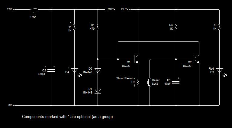 Latching Current Limiter - schematic