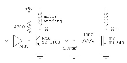 Stepper Motor Circuits - schematic