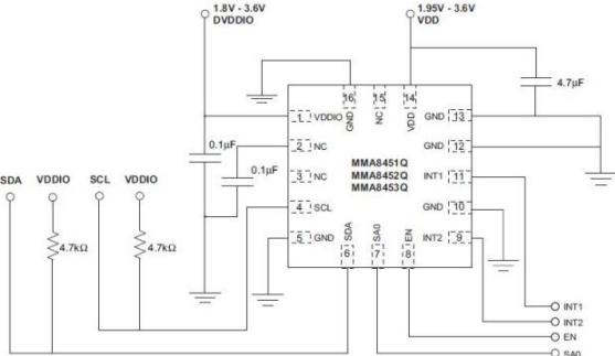 Motion Control Sensor Interface - schematic