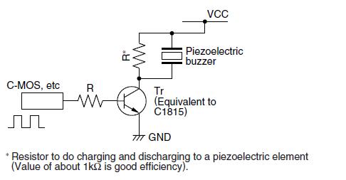 avr Driving piezo buzzer from MCU pin - schematic