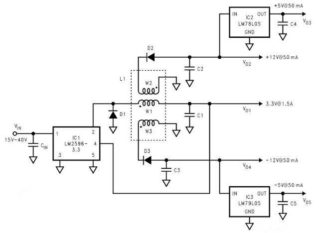 fake car alarm light - schematic