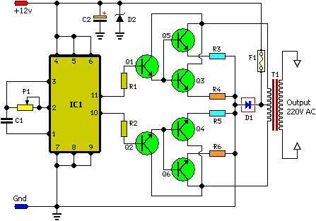 100w inverter - schematic