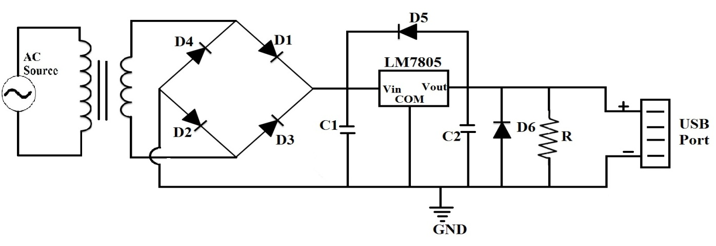 5v usb power supply circuit under repository
