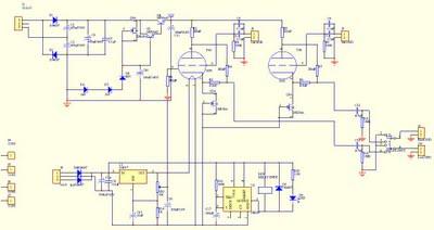 6n3 5670 tube buffer - schematic