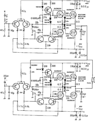 800w power amplifier mosfet - schematic
