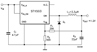 ADJUSTABLE 1 5A STEP DOWN 1 5MHz SWITCHING REGULATOR - schematic