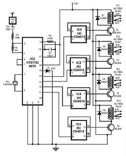 radio remote control using dtmf circuit