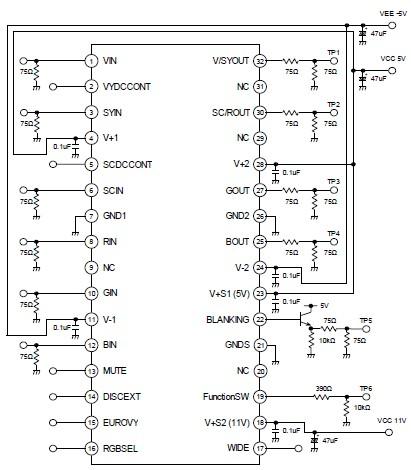 u0026gt  circuits  u0026gt  simple 4 channel video amplifier l32935