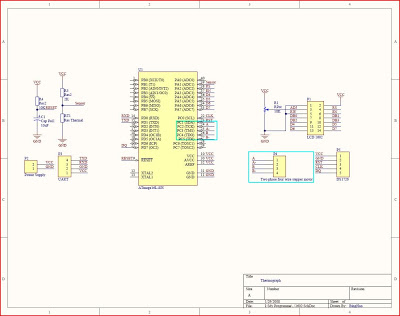 Stepper motor experiment - schematic