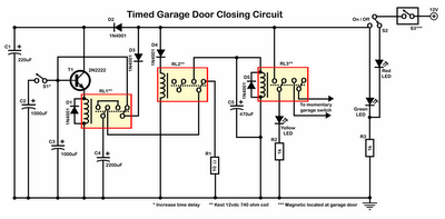 Timer Garage Door Circuit Schematic Diagram - schematic
