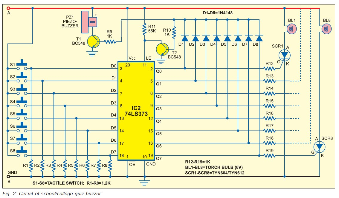 wiring a quiz board search wiring diagrams 8 candidate quiz buzzer circuit using