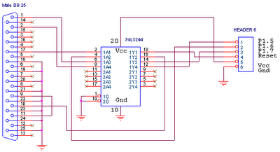 this circuit is isp flash programmer - schematic