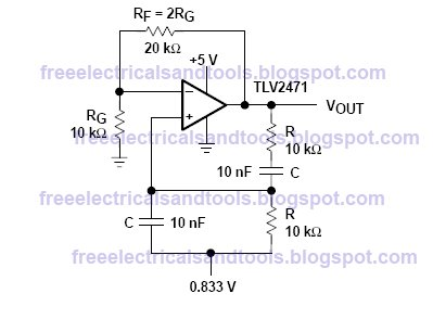 using tlv2471 for wein bridge oscillator - schematic