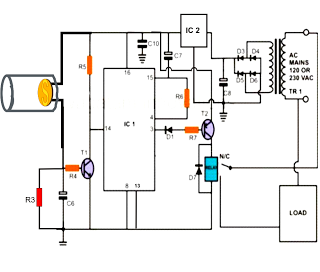 Laser Beam Light Activated Remote Control Circuit - schematic