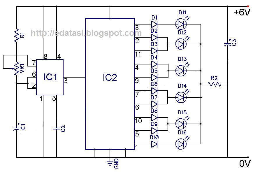 4017 CMOS Decade Counter - schematic