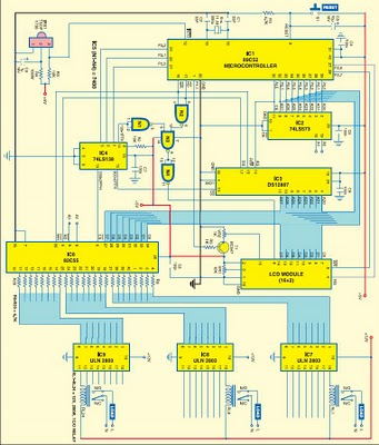 Remotely Programmable RTC-Interfaced Microcontroller for Multiple Device Control - schematic