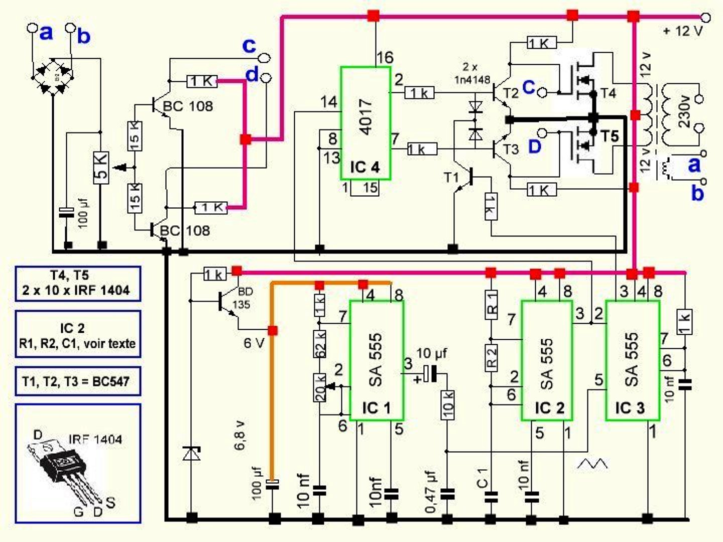 300 watts pwm controlled pure sine wave - schematic