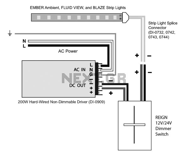 12v-24v dimmer switch 200w driver circuit