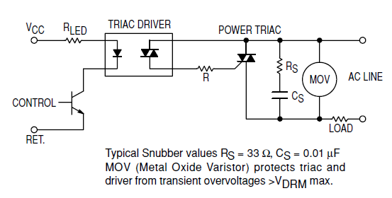 capacitor Choosing components for a triacs snubber