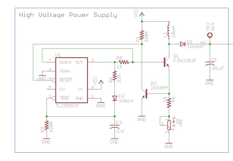 Using microcontroller as oscillator for high voltage power suppy - schematic