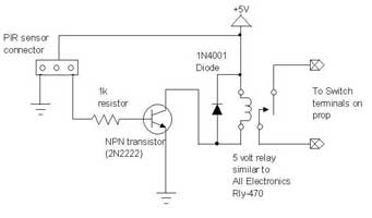 detection Sample Application with LHI 778 PIR Sensor - schematic