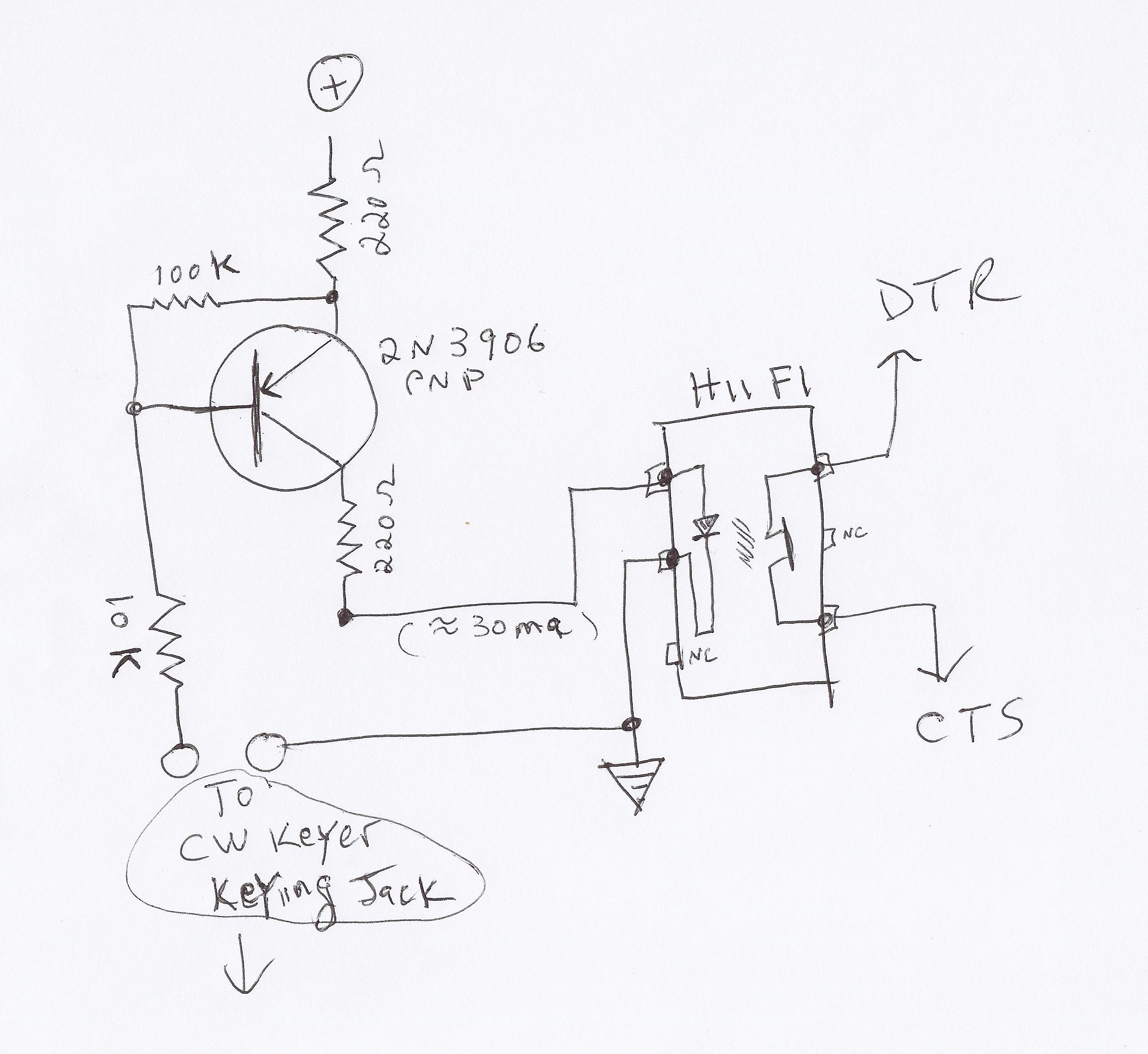 New Circuits Page 50 Ledcircuits 2 Delabs Schematics Electronic Circuit Using Virtual Serial Ports For Ham Radio Dahdidah Cw Keyer