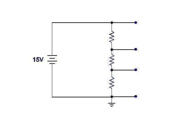 Reading a voltage divider schematic - schematic