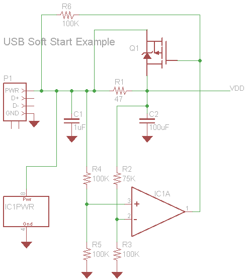 USB powered device with multiple Decoupling Capacitors