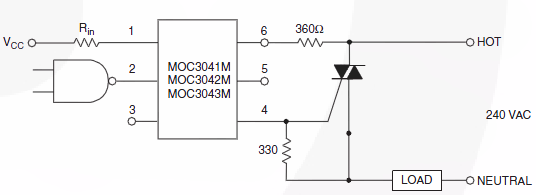 equivalent circuit of a solid state relay - schematic
