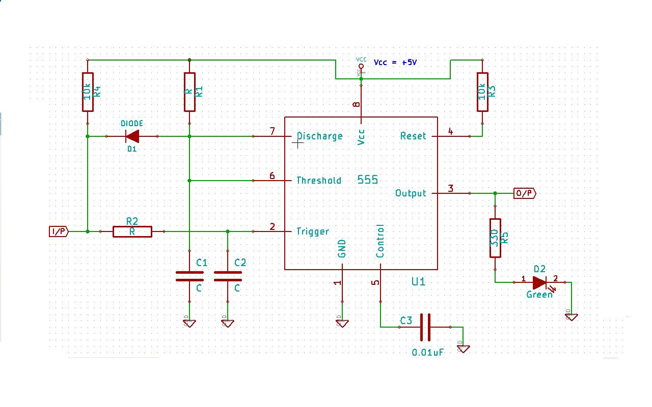 555 Timer Circuit Page 6 Other Circuits Related Simple Led Flasher One Transistor Digital Logic Purpose Of Diode In This Application