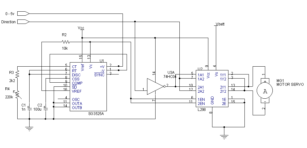 Power Servo - schematic