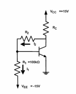 bjt transistor circuit finding the resistances