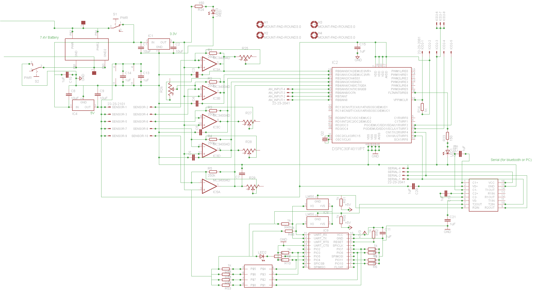 pic RN-41 bluetooth module not transmitting data - schematic