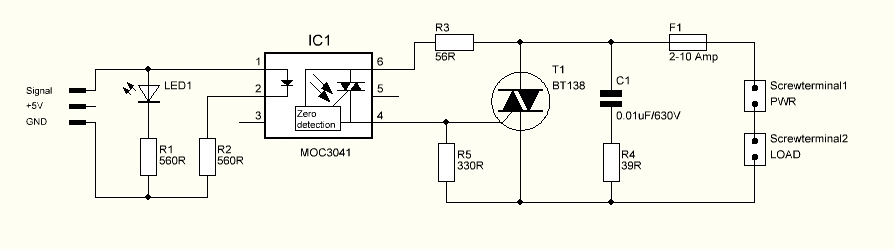 ac Trouble with triac driven dimmer circuit - schematic