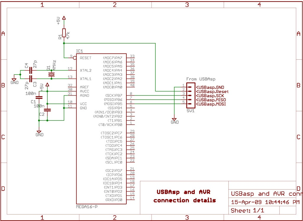 AVR Atmega32 flash verification error - schematic