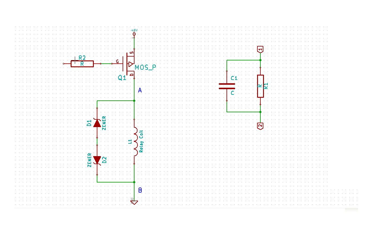 zener Flyback diodes issues and pull-in & hold current issues in this Relay circuit - schematic