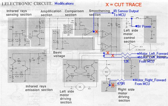 spider robot electronic project page - schematic