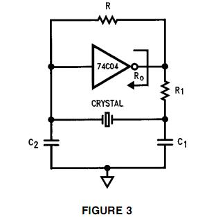 How to connect a crystal oscillator to generate Square wave - schematic