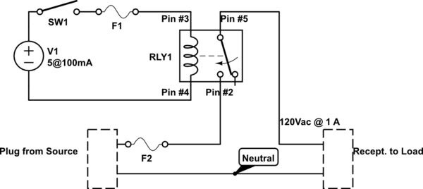 switches Wiring a SPDT Relay - schematic