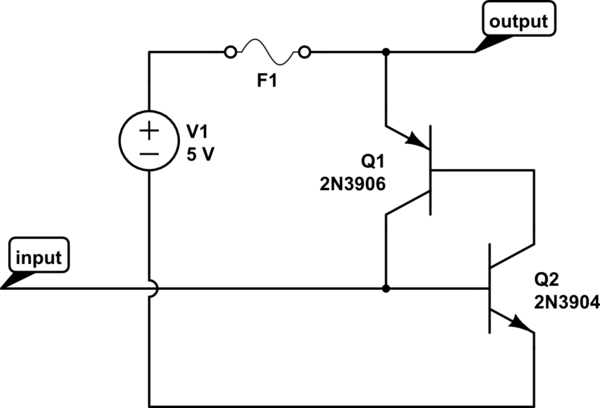 switches Default-on latch-off MOSFET power switch - schematic