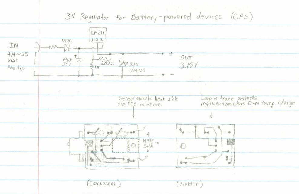 alternative power source for magellan gps receivers - schematic