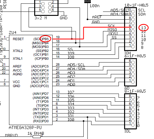 breadboard How does current flow through this Arduino circuit - schematic